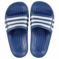 Adidas Duramo Slide Pool Shoes Boys Blue/White Детски сандали и джапанки