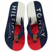 Tommy Hilfiger Джапанки Flag Flip Flops Navy Детски сандали и джапанки