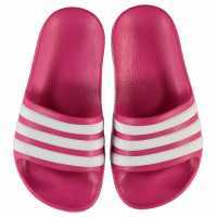 Adidas Duramo Slide Child Girls Pool Shoes Pink/White Детски сандали и джапанки
