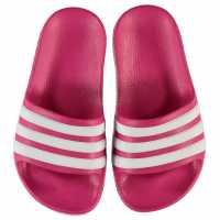 Adidas Duramo Slide Child Girls Pool Shoes Pink/White Детски сандали и джапанки