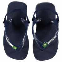 Havaianas Джапанки Baby Brasil Logo Ii Flip Flops Navy Blue Детски сандали и джапанки