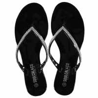 Soulcal Дамски Сандали Jelly Sandals Ladies Black Дамски сандали и джапанки