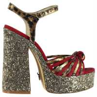 Windsor Smith Roxie Heeled Sandal Red/Gold Дамски сандали и джапанки