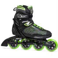 Fila Мъжки Ролери Plume 90 Inline Skates Mens Black/Green Мъжки ролкови кънки