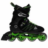 K2 Ролери Fit Pro 84 Inline Skates Black/Green Мъжки ролкови кънки
