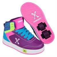 Sidewalk Sport Скейт Обувки За Момичета Hi Top Girls Skate Shoes Purple/Pink/Blu Детски високи кецове