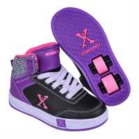 Sidewalk Sport Скейт Обувки За Момичета Hi Top Girls Skate Shoes Black/Purple Детски високи кецове
