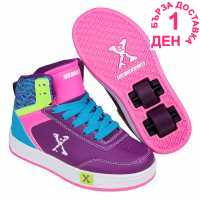 Sidewalk Sport Скейт Обувки За Момичета Hi Top Girls Skate Shoes Purple/Pink/Blu Маратонки с колелца