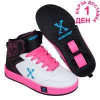 Sidewalk Sport Скейт Обувки За Момичета Hi Top Girls Skate Shoes White/Blk/Pink Детски маратонки