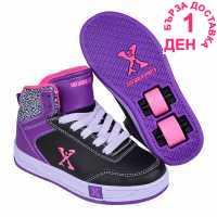 Sidewalk Sport Скейт Обувки За Момичета Hi Top Girls Skate Shoes Black/Purple Детски маратонки