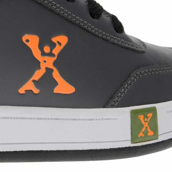 Sidewalk Sport Обувки С Колелца За Момче Hi Top Boys Skate Shoes Grey/Orange/Grn Маратонки с колелца