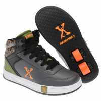 Sidewalk Sport Обувки С Колелца За Момче Hi Top Junior Boys Skate Shoes Grey/Orange/Grn Детски маратонки