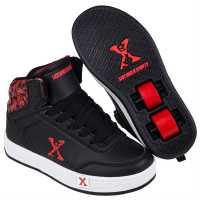 Sidewalk Sport Обувки С Колелца За Момче Hi Top Junior Boys Skate Shoes Black/Red Маратонки с колелца