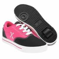 Sidewalk Sport Маратонки С Колелца За Момичета Canvas Roller Trainers Child Girls Black/Pink Маратонки с колелца