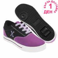 Sidewalk Sport Маратонки Момичета Canvas Roller Trainers Junior Girls Purple/Black Маратонки с колелца
