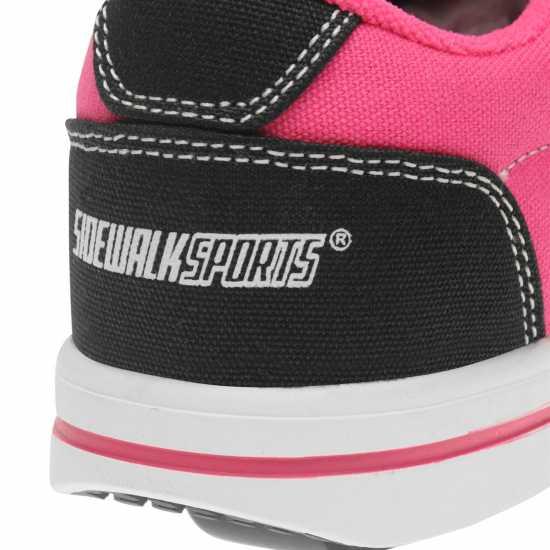f5ec7378a1a Sidewalk Sport Маратонки Момичета Canvas Roller Trainers Junior Girls Black/Pink  Маратонки с колелца