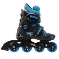 No Fear Ролери Момчета Inline Skate Junior Boys Black/Blue Детски ролкови кънки