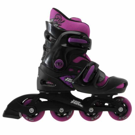 No Fear Ролери Момичета Girls Inline Skates Black/Purple Детски ролкови кънки