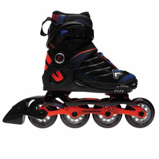 Fila Ролери Wizy Alu Inline Skates Junior Boys Black/Org/Blue Детски ролкови кънки