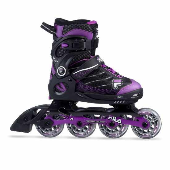 Fila Ролери Wizy Alu Inline Skates Junior Girls Black/Magenta Детски ролкови кънки