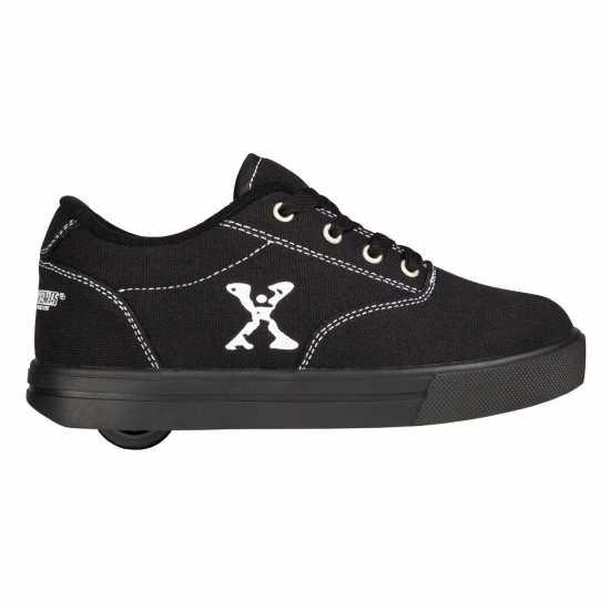 Sidewalk Sport Детски Скейт Кецове Canvas Childrens Skate Shoes Black Маратонки с колелца