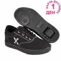 Sidewalk Sport Маратонки С Колелца Canvas Junior Roller Shoes Black Маратонки с колелца
