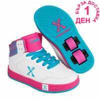 Sidewalk Sport Кецове Sport Girls Hi Tops White/Pink/Blue Маратонки с колелца