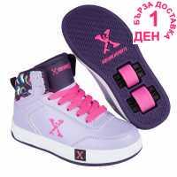 Sidewalk Sport Скейт Обувки За Момичета Hi Top Girls Skate Shoes Purple/Lilac Детски маратонки