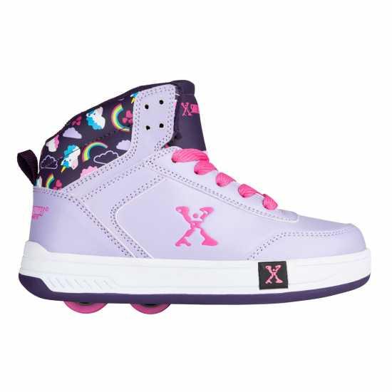Sidewalk Sport Скейт Обувки За Момичета Hi Top Girls Skate Shoes Purple/Lilac Маратонки с колелца