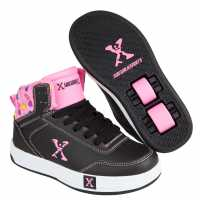 Sidewalk Sport Скейт Обувки За Момичета Hi Top Girls Skate Shoes Black/Pink Маратонки с колелца