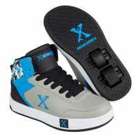 Sidewalk Sport Детски Скейт Кецове Hi Top Childrens Skate Shoes Grey/Black/Blue Маратонки с колелца