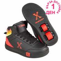 Sidewalk Sport Детски Скейт Кецове Hi Top Junior Skate Shoes Black/Red Детски маратонки