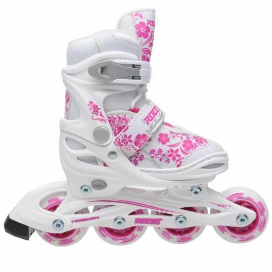 Roces Compy 8.0 Grl00 White/Pink Детски ролкови кънки