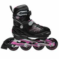Roces Детски Ролери За Момичета Moody 5 Junior Girls Inline Skates Black/Pink Детски ролкови кънки