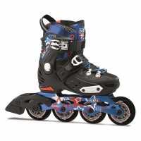 Fila Детски Кънки Nrk Junior Skates Black/Red/Blue Детски ролкови кънки