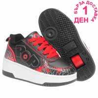 Heelys Детски Скейт Кецове Pop Strike Childrens Skate Shoes Black/Red Детски маратонки