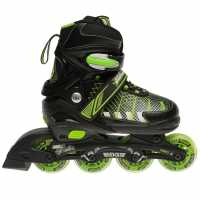No Fear Ролери За Деца Edge Childrens Inline Skates Black/Green Детски ролкови кънки