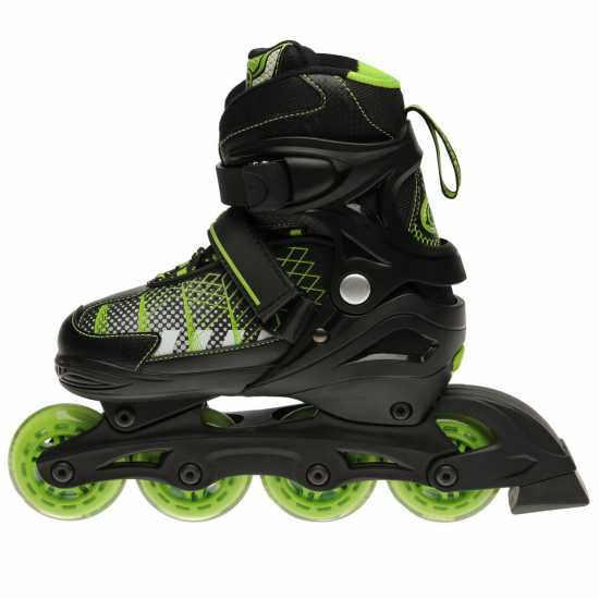No Fear Детски Ролери Edge Junior Skates Black/Green Детски ролкови кънки