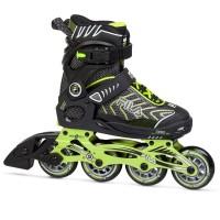 Fila Ролери Wizy Alu Inline Skates Junior Boys Black/Lime Детски ролкови кънки