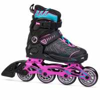 Fila Ролери Wizy Alu Inline Skates Junior Girls Black/Pink/Blue Детски ролкови кънки