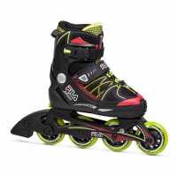 Fila Детски Ролери X One Junior Inline Skates Black/Red/Lime Детски ролкови кънки