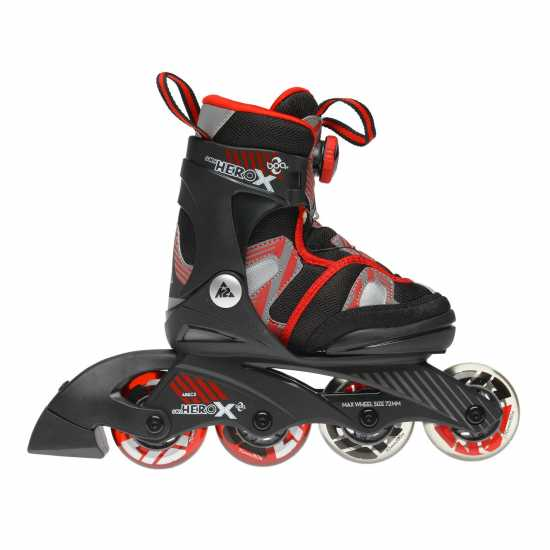 K2 Ролери Sk8 Hero X Boa Inline Skates Junior Boys Black/Red Детски ролкови кънки