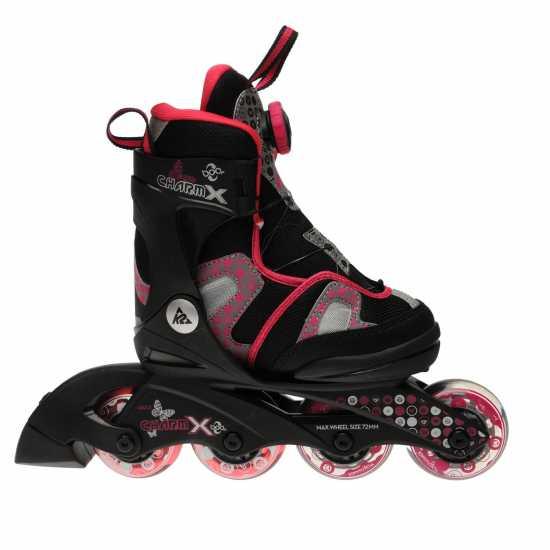 K2 Charm X Boa Grl71 Black/Pink Детски ролкови кънки