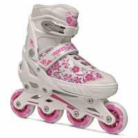Roces Ролери Момичета Compy 8.0 Inline Skates Girls White/Pink Детски ролкови кънки
