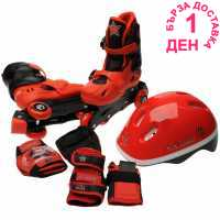 Cosmic Ролкови Кънки С Каска И Наколенки Skate And Protection Pack Junior