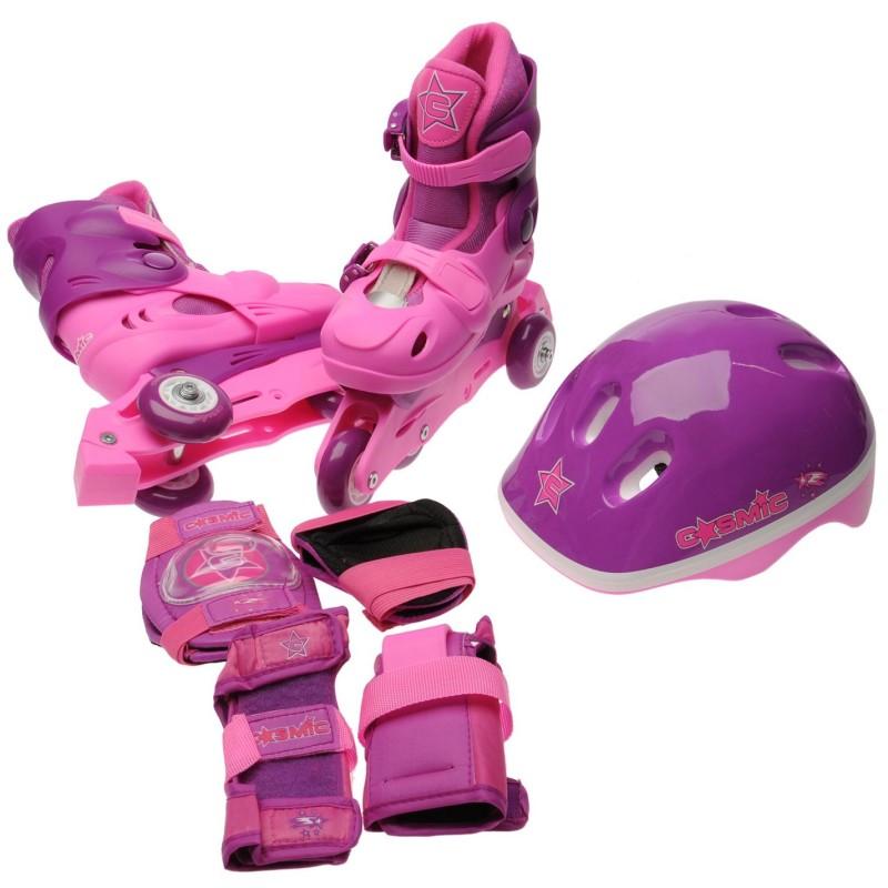 5165cf46fef Cosmic Ролкови Кънки С Каска И Наколенки Skate And Protection Set  Pink/Purple Детски ролкови