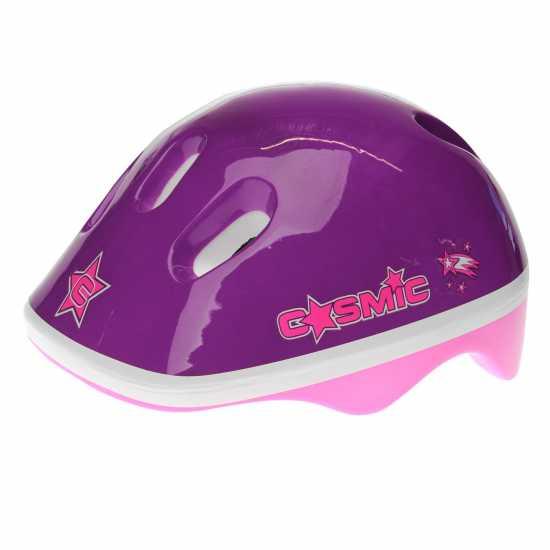 Cosmic Ролкови Кънки С Каска И Наколенки Skate And Protection Set Pink/Purple Детски ролкови кънки
