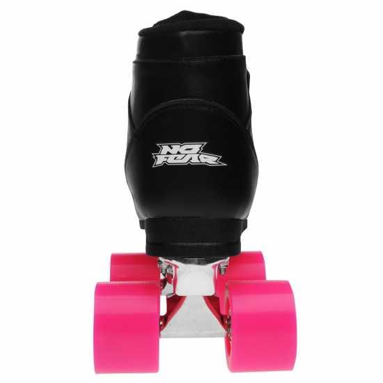 No Fear Derby Ladies Quad Roller Skates Black/Pink Дамски ролкови кънки