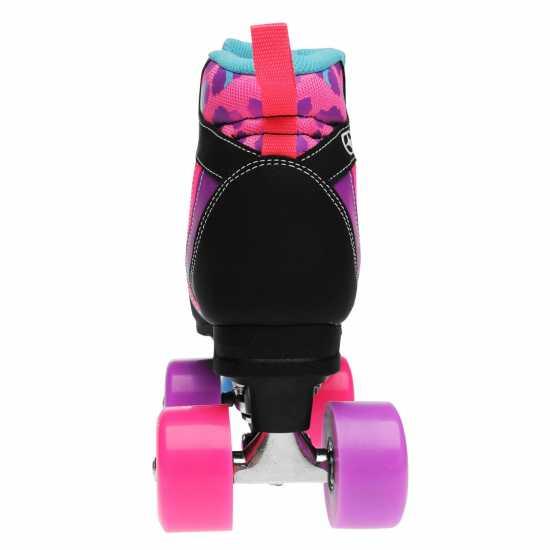 No Fear Ретро Ролкови Кънки Retro Quad Skates Ladies Blk/Pnk/Purp Дамски ролкови кънки