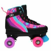 No Fear Retro Quad Girls Roller Skates Blk/Pnk/Purp Детски ролкови кънки